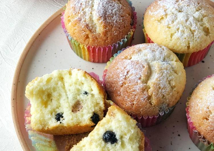 Recipe of Homemade Blueberry Muffin
