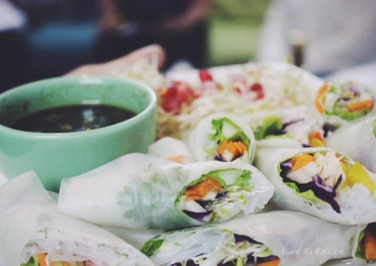 Recipe of Perfect Vietnamese Style Spring Rolls