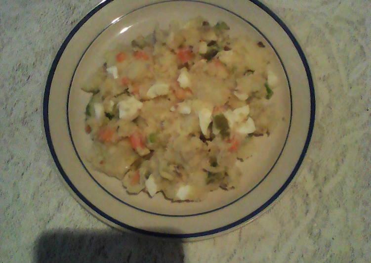 Cozido(potatoes and eggs salad)