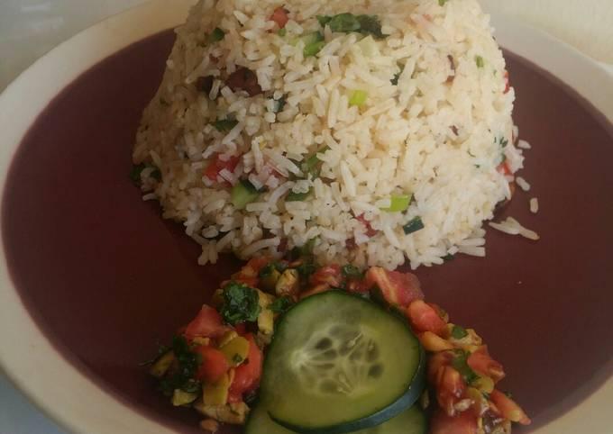 Stir fried rice with nyamabite