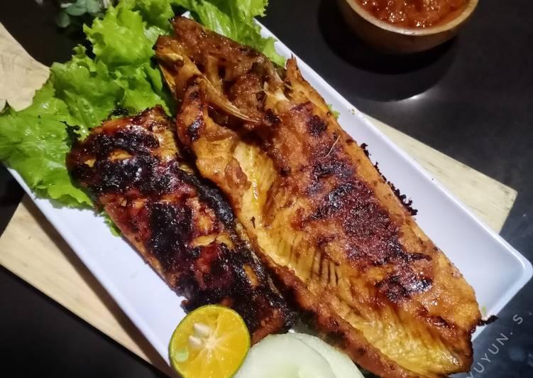 Haruan panggang (ikan gabus bakar)