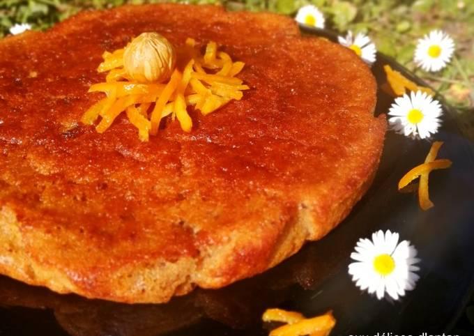 Gâteau à la châtaigne et écorces de mandarine confite