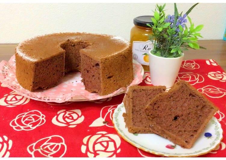 Chocolate Chiffon Cake (Putih Telur)