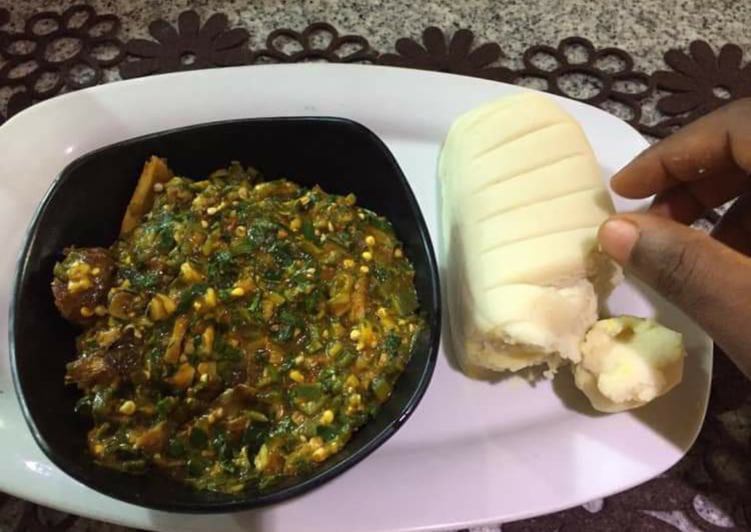 Step-by-Step Guide to Make Perfect Okro soup with pounded yam