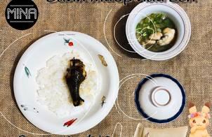 Gà chiên nước mắm -Canh mướp nấu ếch (ăn dặm)