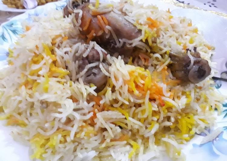 Lucknowi chicken dum biryani