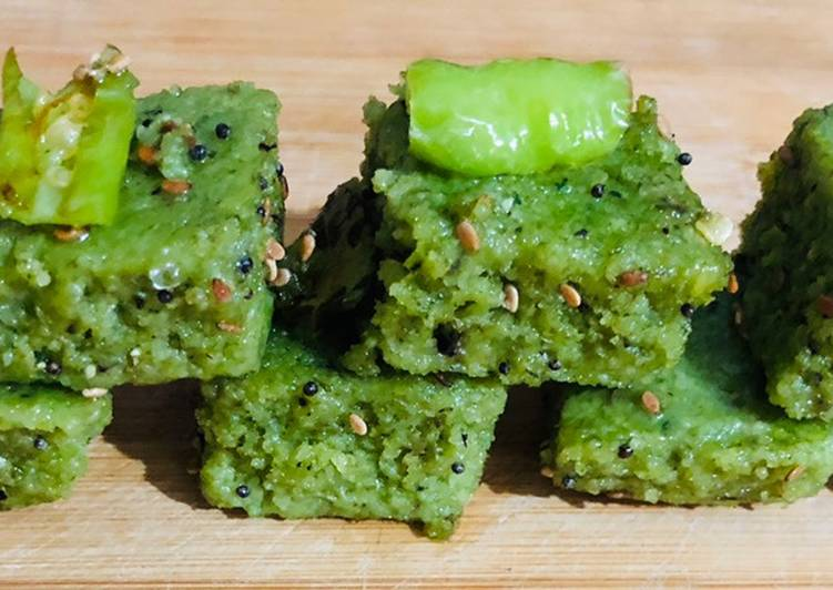 How to Prepare Top-Rated Multigrain spinach dhokla