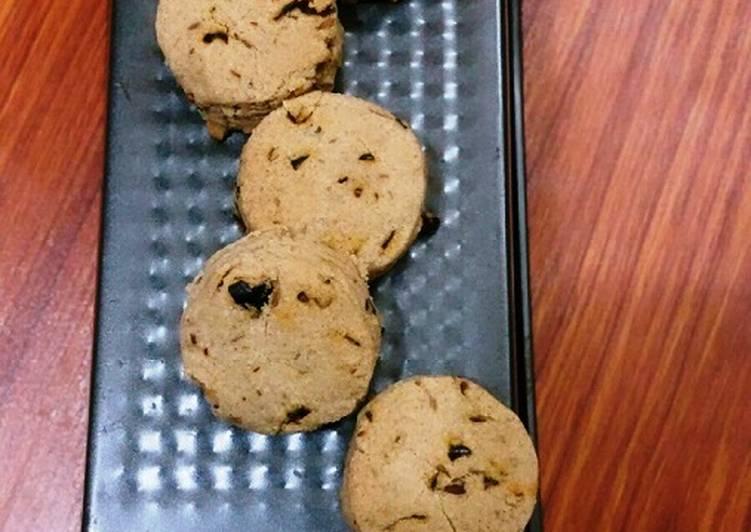 Recipe of Favorite Jowar/Sorghum & Chilli Flakes Biscuits