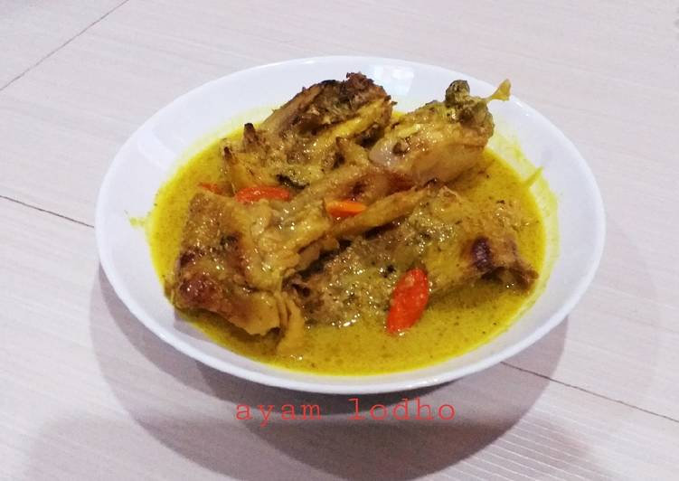 Resep Ayam Lodho Yang Simple Sedap