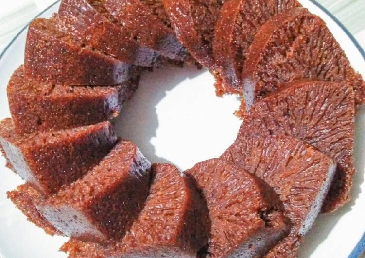cara buat Bolu karamel / bolu sarang semut ga terlalu oily - Sajian Dapur Bunda
