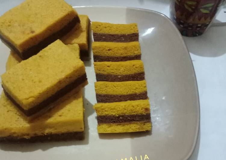 Resep Bolu Kukus Labu Kuning Lapis Coklat yang Bikin Ngiler