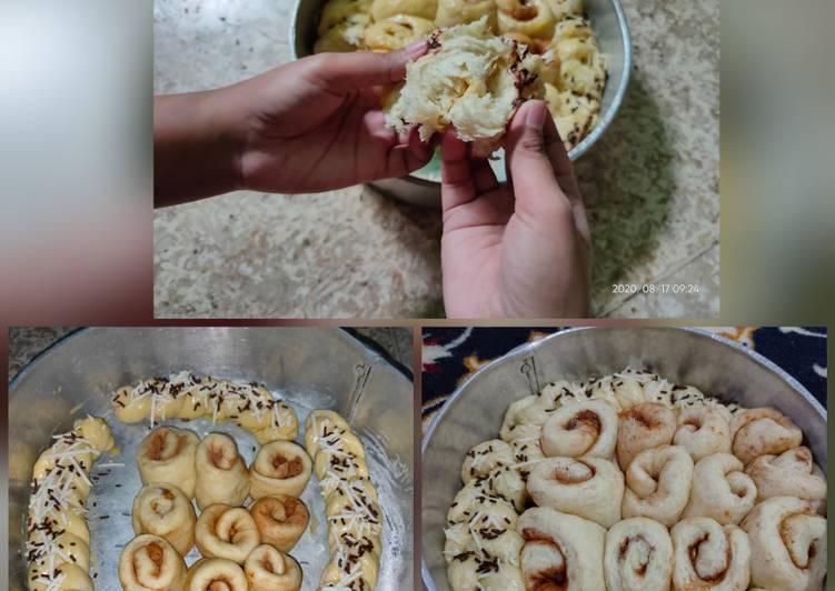 Cinnamon Roll lembut/Roti Kepang serat halus (1 telur aja)