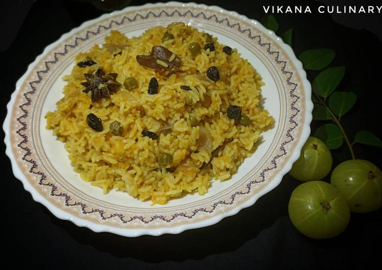 Absolutely Ultimate Dinner Ideas Quick Healthy Indian Gooseberry Pulao - One pot Meal