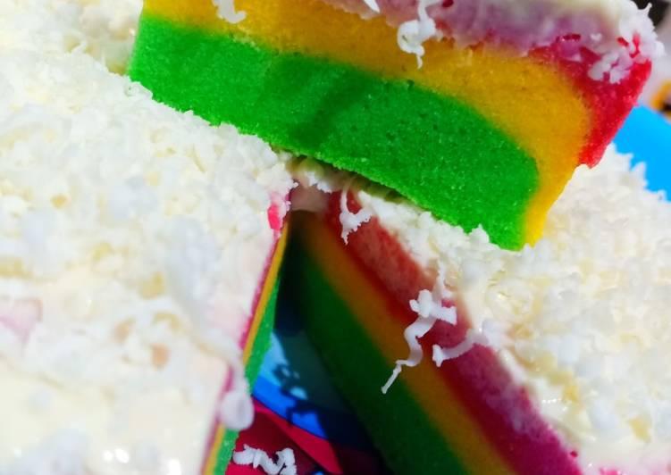 Steamed Rainbow Cake #Keto