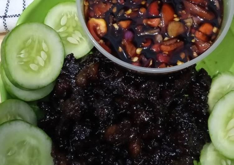 Daging Sapi Bakar Teflon dan Sambal Kecap