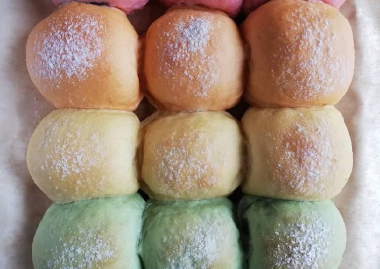 48. Rainbow Japanese Milk Bread
