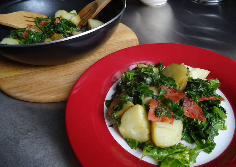 Kale, New Potato & Chorizo Salad