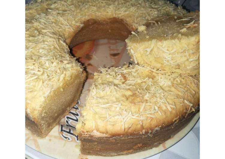 resep bikin Kue Bolu Singkong panggang keju - Sajian Dapur Bunda