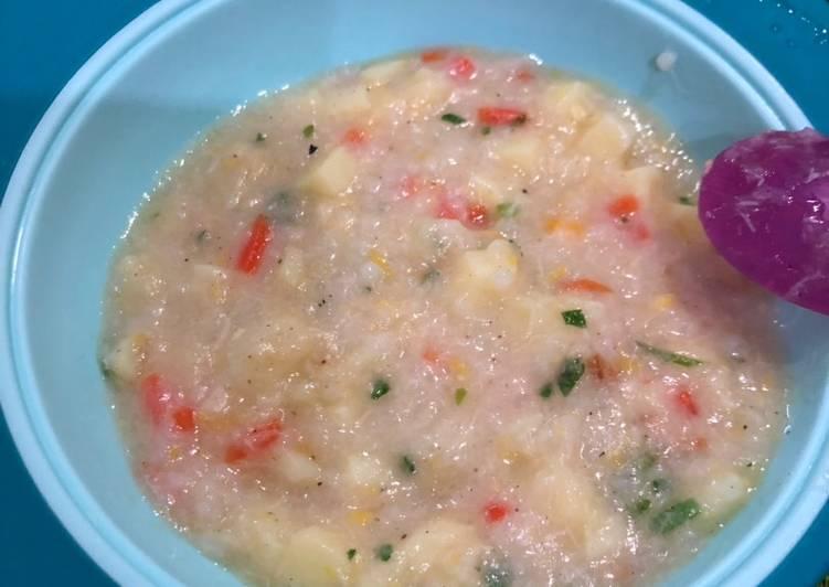 Resep Bubur Ayam 3 Warna (batita) Paling Enak