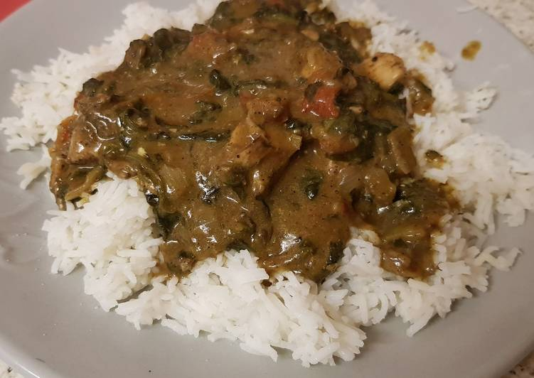 Recipe of Speedy My Chicken & Spinach Curry with Basmati Rice 😘