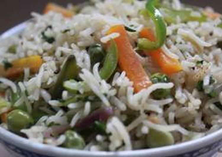 Steps to Make Quick Milky Veg Rice