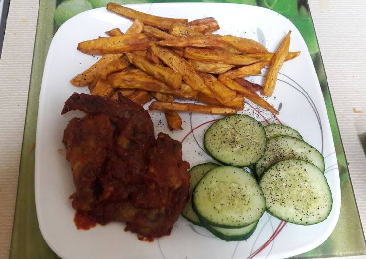 The Best Dinner Easy Love Sweet Potatoes Chips with Wings#local Food Contest_Mombasa