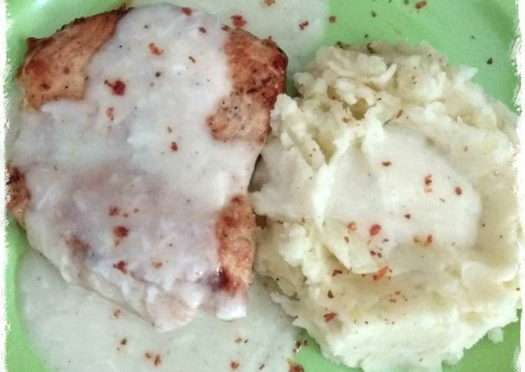 Chicken Steak with Creamy Sauce