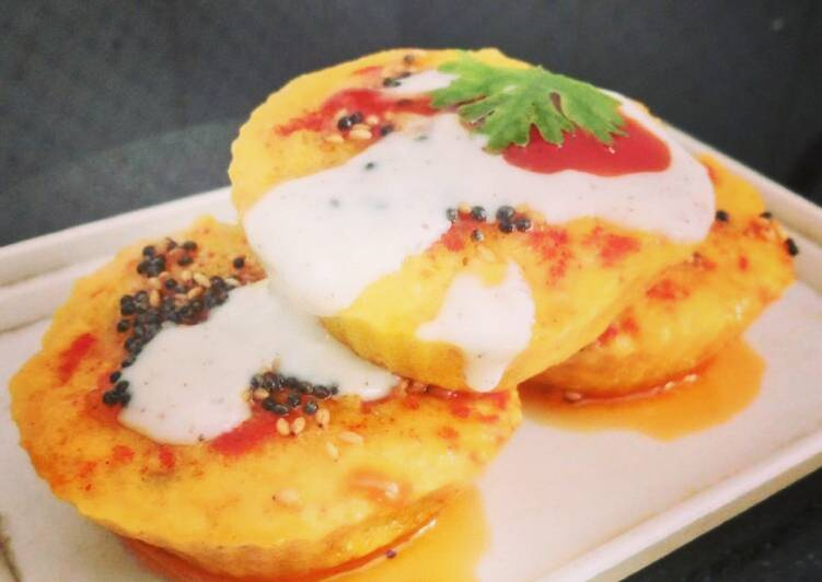 Steps to Make Ultimate Handvo Muffins with Creamy Cheese Sauce
