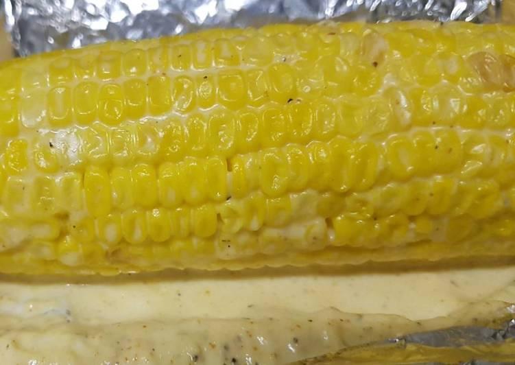 Mayo Parmesan Corn On the Cob