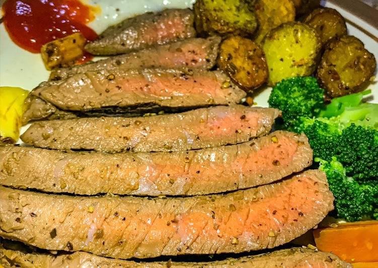 beef steak steak daging foto resep utama
