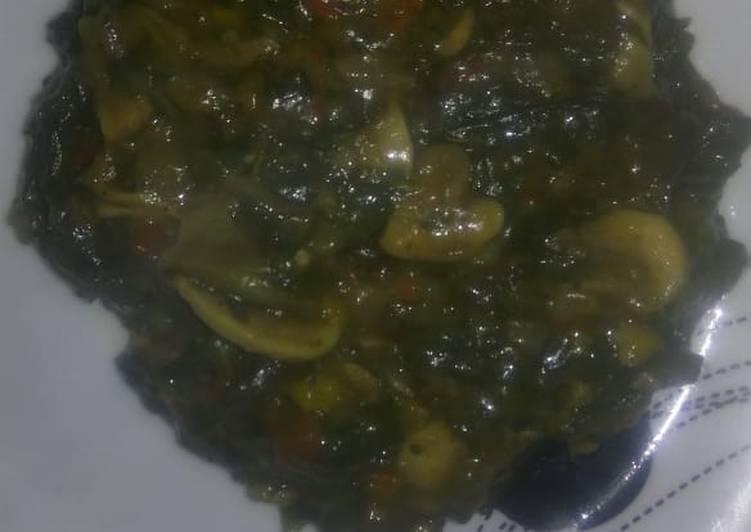 Creamy Mushrooms spinach