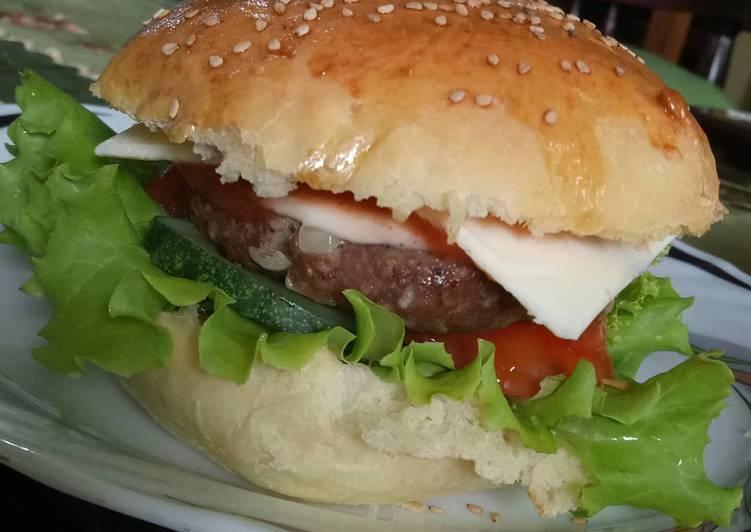 Resep Burger beef Bikin Laper