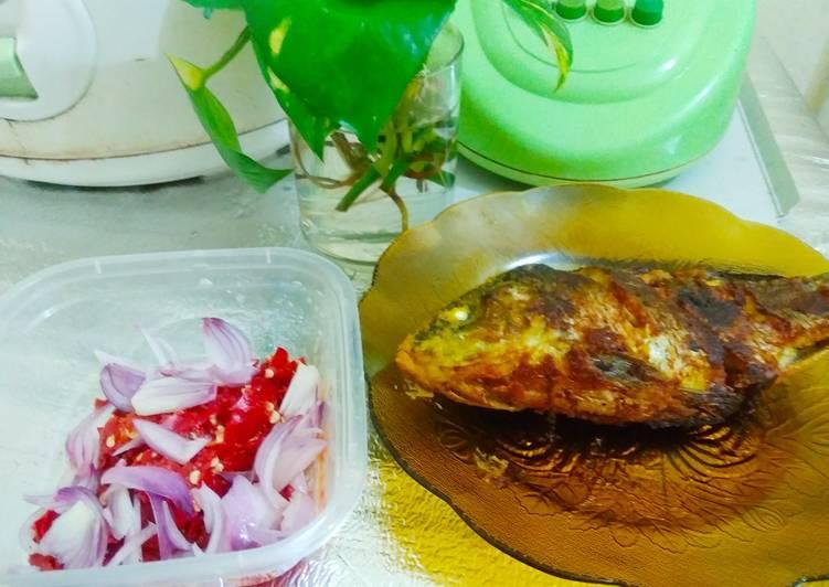 Resep Ikan mas bakar teflon 🐠 Yang Gampang Endes