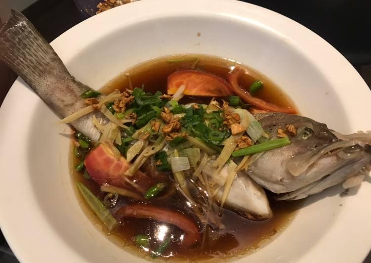 Ikan kerapu stream ala hongkong