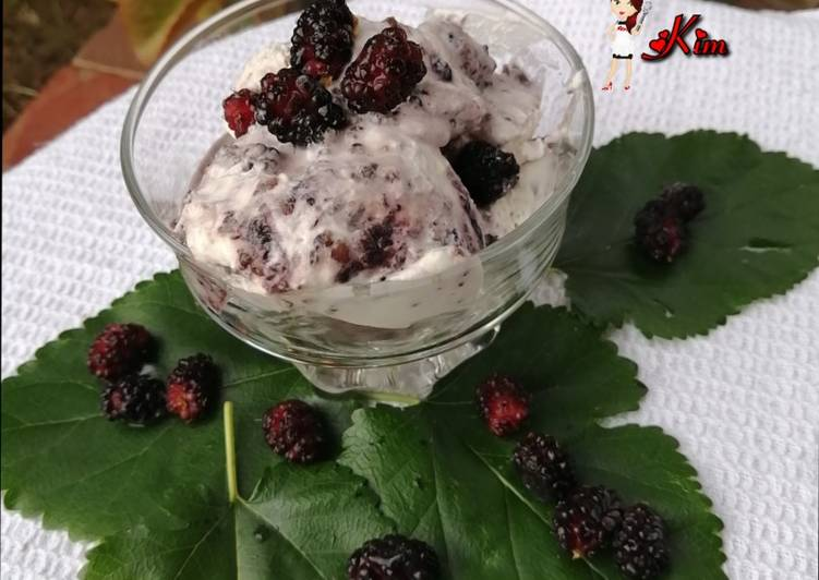 How to Prepare Homemade Mulberry Ice-cream