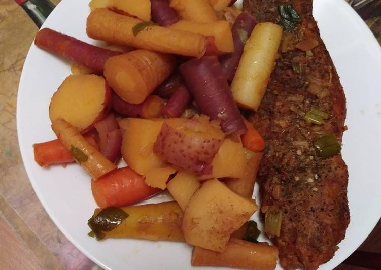 Recipe: Yummy Quick & Easy Rainbow Pork Pot Roast