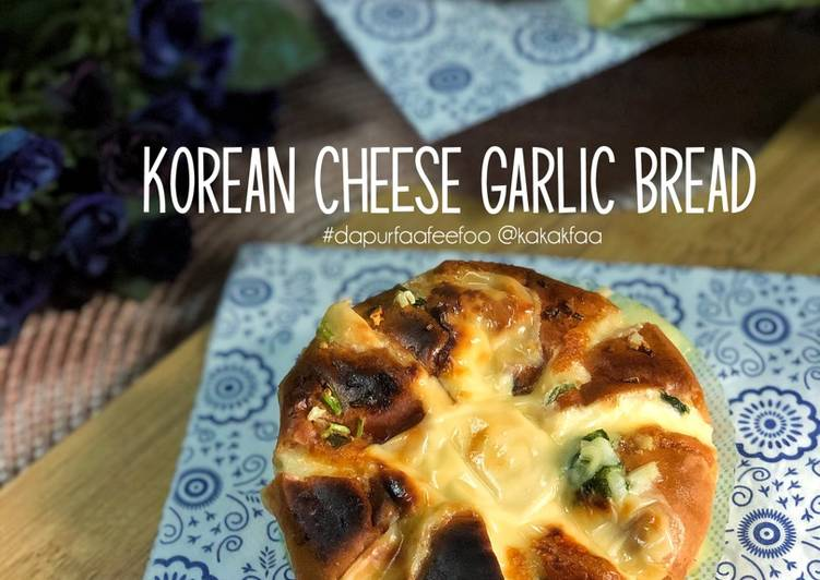 Korean Cheese Garlic Bread - resepipouler.com