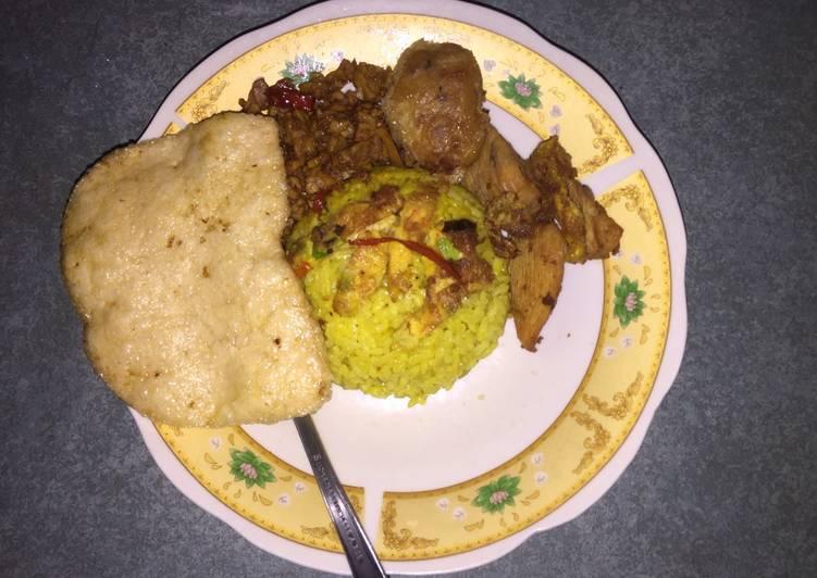 Nasi kuning simple ricecooker - cookandrecipe.com