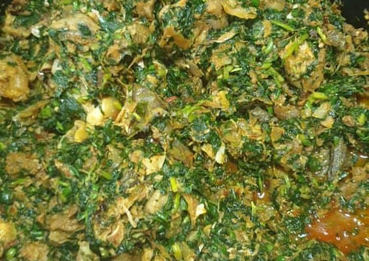 Vegetable soup with shaki