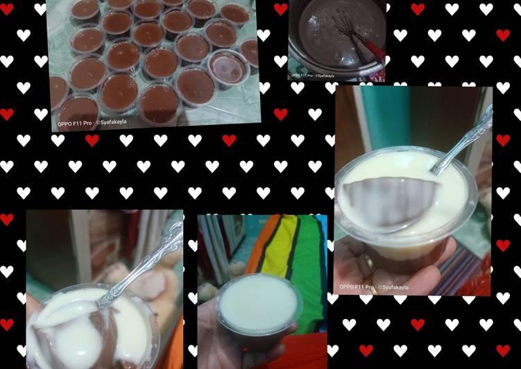 Puding coklat fla