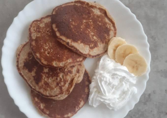 Blended oats pancakes
