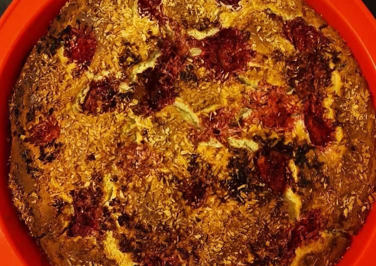 ,,Bez-ciasto drożdżowe z truskawkami glutenu i laktozy,,