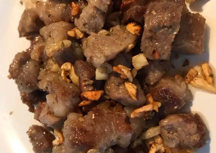 Garlic Beef Butter Empuk using non wagyu