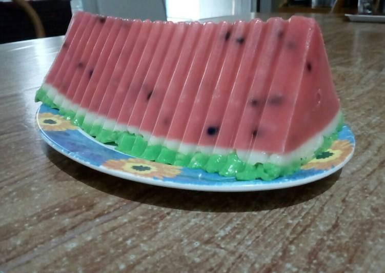 Puding semangka margarin