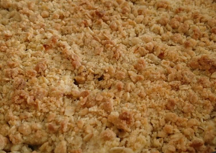 recette Crumble healthy rhubarbe pommes Le plus simple