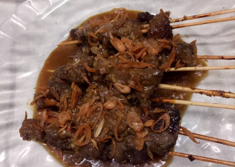 Resep Sate kambing bumbu kacang Terbaik