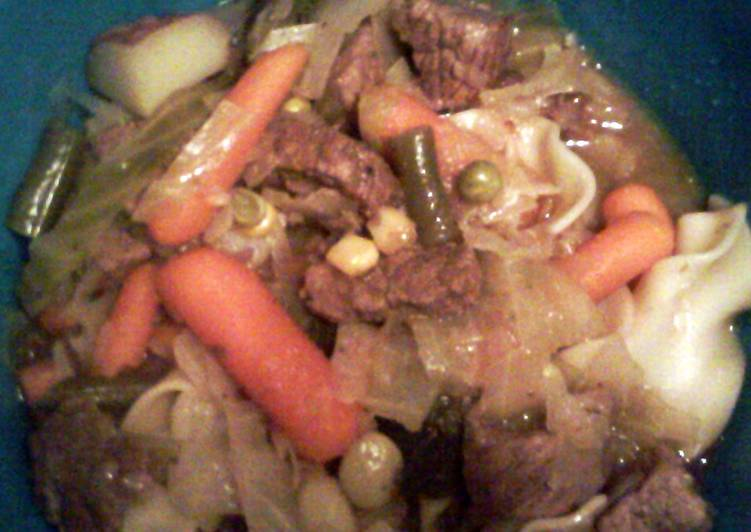 Steps to Make hearty beef stew with cabbage® in 15 Minutes for Young Wife