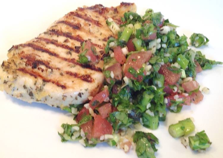 Tabbouleh and Lemon Grilled Chicken