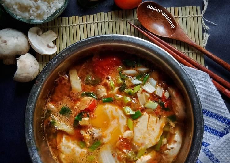 Sundubu Jjigae (Sup Tofu Pedas)