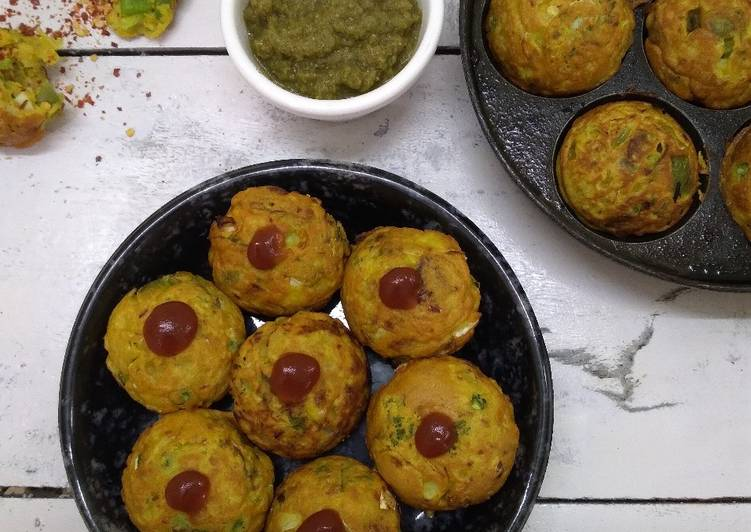 5 Minute Recipe of Award Winning Mix veg besan appam